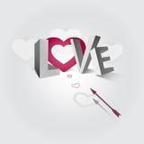 Amor da palavra Imagens de Stock