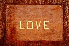 Amor da palavra, oxidado Foto de Stock Royalty Free