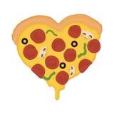 Amor da pizza Imagem de Stock Royalty Free