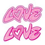 AMOR da rotulação Dia do ` s do Valentim, feriados Imagens de Stock