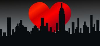 Amor da skyline da cidade Fotografia de Stock