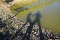 Amor da sombra Foto de Stock Royalty Free