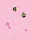 Amor das abelhas ilustração stock
