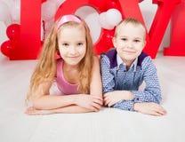 Amor das crianças imagem de stock