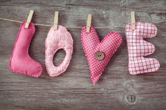 Amor das letras Imagens de Stock