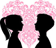 Amor das mulheres e dos homens Fotografia de Stock Royalty Free