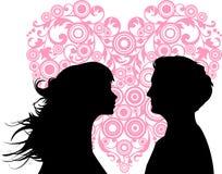 Amor das mulheres e dos homens Foto de Stock Royalty Free