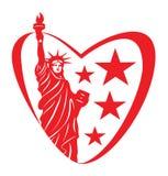 Amor de América Imagen de archivo libre de regalías