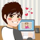 Amor de conversa do adolescente Imagem de Stock Royalty Free