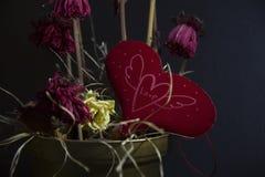 Amor de desvanecimento - as flores murcham fotos de stock royalty free