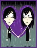 Amor de Emo ilustração royalty free