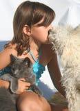 Amor de filhote de cachorro Imagens de Stock