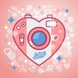 Amor de la cámara Stock de ilustración