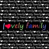 Amor de la familia del vector del alfabeto de la fuente de la letra Fotografía de archivo libre de regalías
