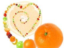 Amor de la fruta imágenes de archivo libres de regalías