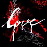 Amor de la inscripción Imagen de archivo