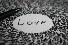 Amor de la inscripción Imagen de archivo libre de regalías