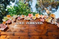 Amor de la inscripción de la boda para siempre Foto de archivo