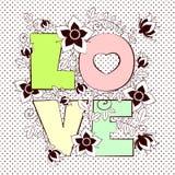Amor de la letra del vector Foto de archivo libre de regalías