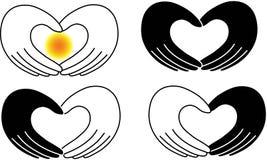 Amor de la mano del corazón libre illustration