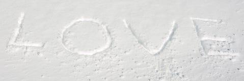 Amor de la nieve Imagen de archivo libre de regalías