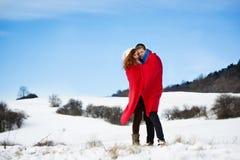 Amor de la nieve Foto de archivo libre de regalías