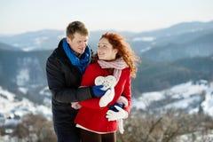 Amor de la nieve Fotografía de archivo