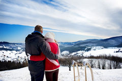 Amor de la nieve Fotos de archivo libres de regalías
