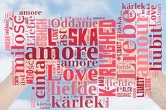 Amor de la nube de la palabra Imagen de archivo libre de regalías