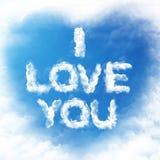 Amor de la nube usted Imagen de archivo libre de regalías