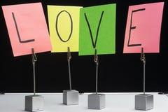 Amor de la palabra Fotografía de archivo libre de regalías