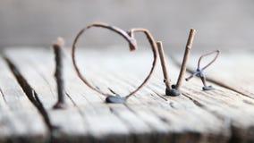 Amor de la palabra - día de tarjetas del día de San Valentín, día de madres, boda, eventos románticos almacen de video