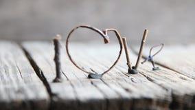 Amor de la palabra - día de tarjetas del día de San Valentín feliz, día de madres, boda, eventos románticos, estilo del vintage almacen de metraje de vídeo