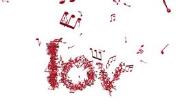 Amor de la palabra en la forma de las notas de la música libre illustration