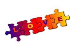 Amor de la palabra en rompecabezas Imagen de archivo libre de regalías