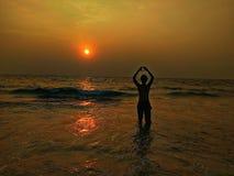 Amor de la playa Fotos de archivo libres de regalías