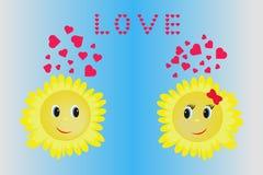 Amor de la postal Foto de archivo libre de regalías