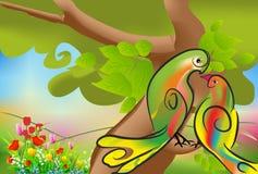 Amor de la primavera de pájaros Imágenes de archivo libres de regalías