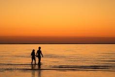 Amor de la puesta del sol Imagen de archivo libre de regalías
