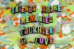 Amor de la risa de las memorias de la parte de los amigos Imagen de archivo
