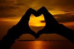 Amor de la silueta Imagen de archivo libre de regalías