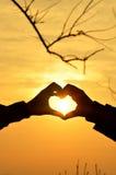 Amor de la silueta Foto de archivo libre de regalías