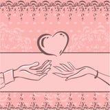 Amor de la tarjeta ilustración del vector