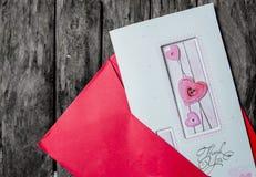 Amor de la tarjeta Imagen de archivo libre de regalías