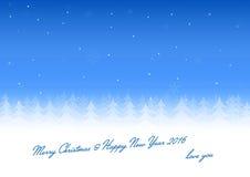 Amor de la tarjeta de Navidad usted Foto de archivo