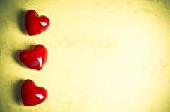 Amor de la tarjeta del día de San Valentín Imagen de archivo libre de regalías