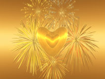 Amor de la tarjeta del día de San Valentín, ilustración del vector