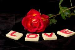 Amor de la tarjeta del día de San Valentín imagen de archivo