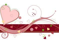 Amor de la tarjeta del día de San Valentín ilustración del vector