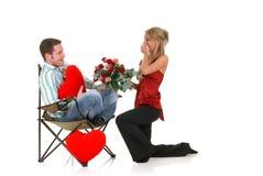 Amor de la tarjeta del día de San Valentín, oferta Fotos de archivo libres de regalías